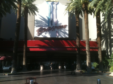 Outside Stratosphere Main Entrance: Point F
