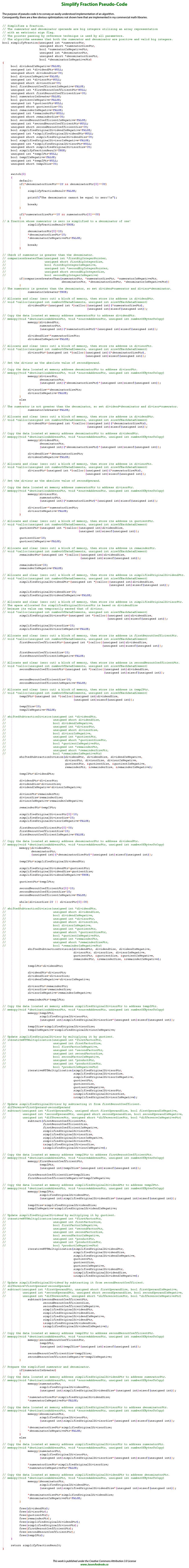 Simplify Fraction Pseudo-Code